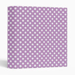 White Polka Dots Purple Binder