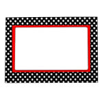 White Polka Dots- Red Accent Magnetic Frame