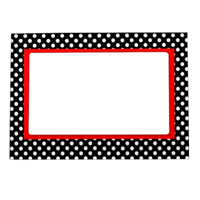 Black and White with Red Polka Dot Frame | Zazzle.com
