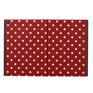 White Polka dots red background Powis iPad Air 2 Case