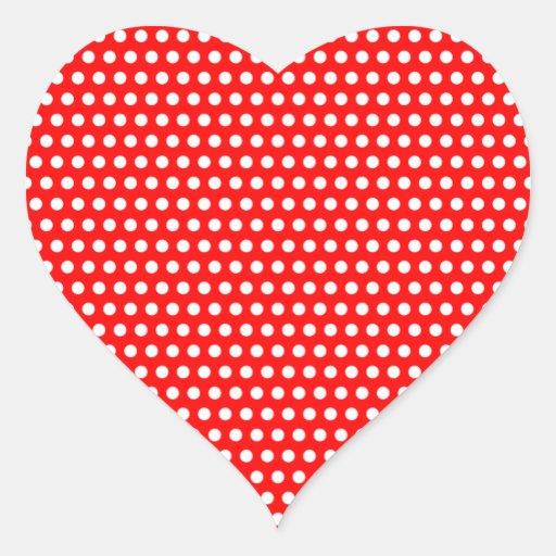 White Polka Dots Sticker