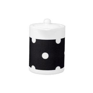 White Polka Dots Teapot