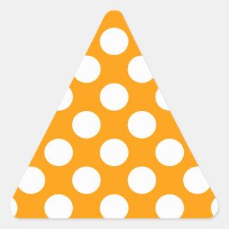 White Polka Dots Triangle Sticker