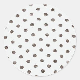 White Polkadot Stickers