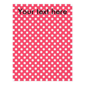 """White polkadots on red 8.5"""" x 11"""" flyer"""