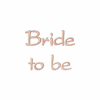 White polo with Embroidered bride to be