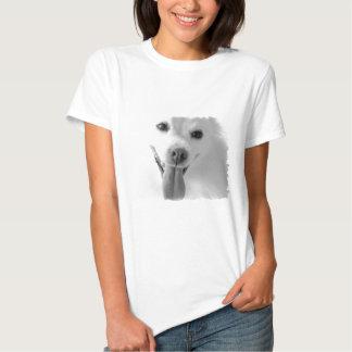 White Pomeranian Ladies T-Shirt