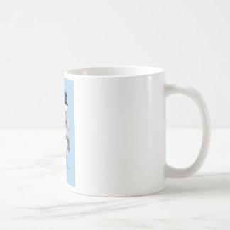 White Poodle Biker Chick Art Print Coffee Mug
