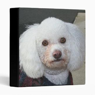 White Poodle binder