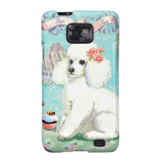 White Poodle bonbon Cupcake Galaxy SII Case