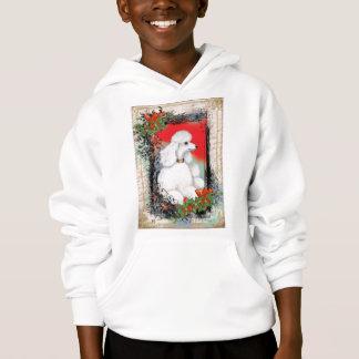 White Poodle Christmas Hoodie