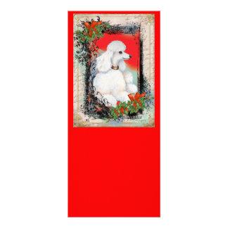 White Poodle Christmas Rack Card