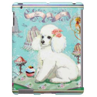 White Poodle & Cupcake Ipad Case