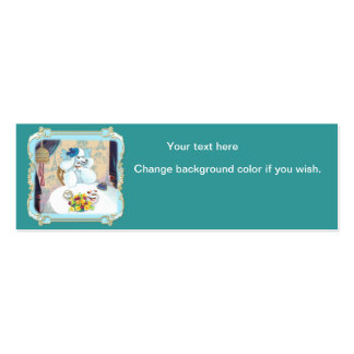 White Poodle Cupcake Tea Party Business Card Templates