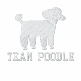 White Poodle Dog Graphic with Text (Customizable) Jacket