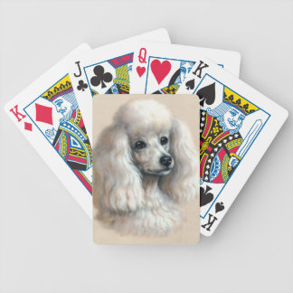 White Poodle Dog Playing Cards