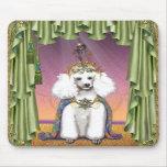 White Poodle Far East Fairy Tale Art Mousepads