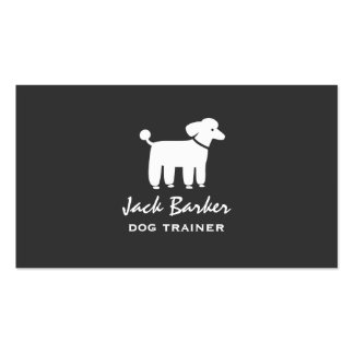 White Poodle Graphic Business Card