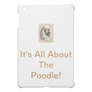 White Poodle Case For The iPad Mini