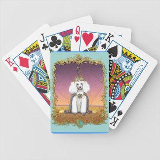 White Poodle King Painting Dress up Bicycle Playing Cards
