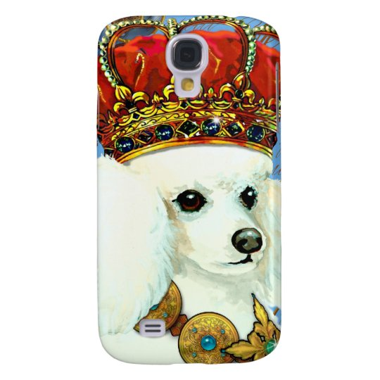 White Poodle King Painting Dress up Galaxy S4 Case
