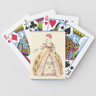 White Poodle Marie Antoinette Fashion Plate Art Bicycle Playing Cards