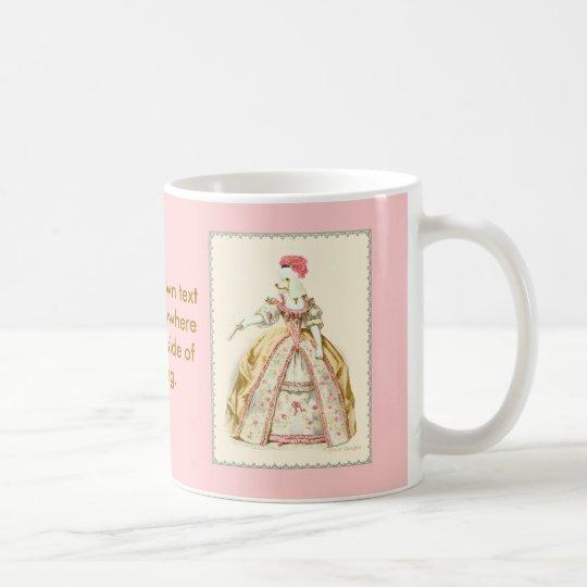 White Poodle Marie Antoinette French Fashion Coffee Mug