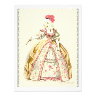 White Poodle Marie Antoinette French Fashion Flyer