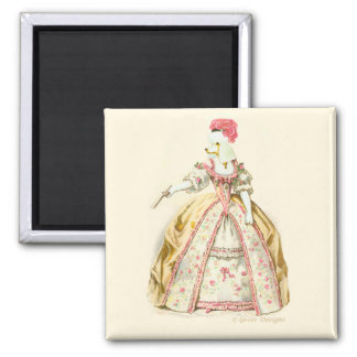 White Poodle Marie Antoinette French Fashion Magnet