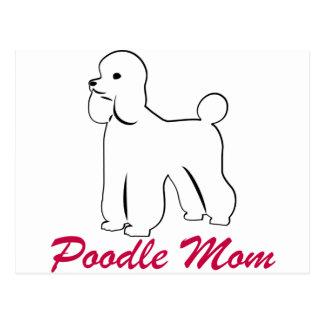 White Poodle Mom Postcard