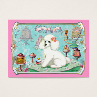 White Poodle Party Treats and Cupcake Business Card