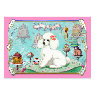 White Poodle Party Treats and Cupcake Business Card Templates