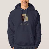 White Poodle Portrait Art Wear Sweatshirt