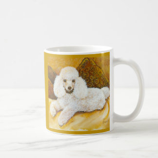 White Poodle Portrait Coffee Mug