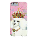 White Poodle Princess Barely There iPhone 6 Case
