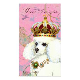 White Poodle Princess Business Card