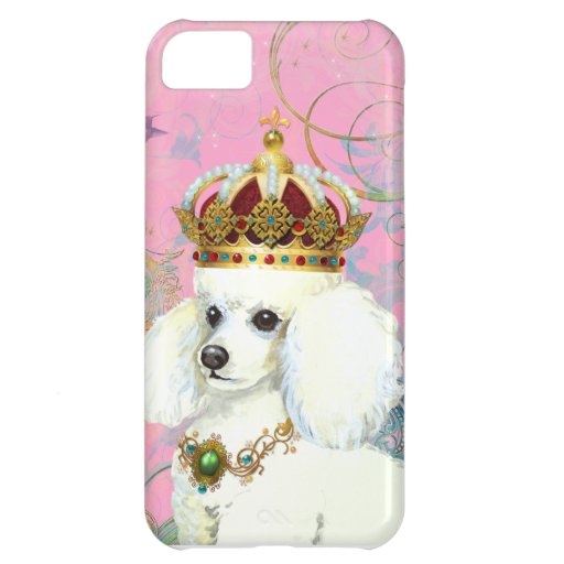 White Poodle Princess Cover For iPhone 5C