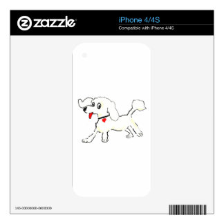 White poodle puppy iPhone 4 skin
