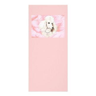 White Poodle Rose Petals Pink Invitation