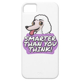 White Poodle - Smarter than you think! iPhone SE/5/5s Case