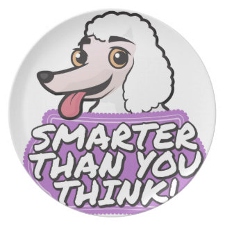 White Poodle - Smarter than you think! Plate