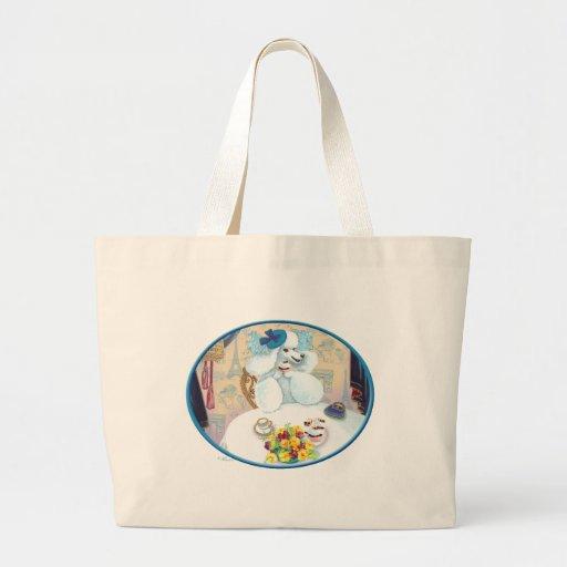 White Poodle Tea Party Bags