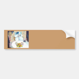 White Poodle Tea Party Bumper Sticker