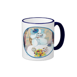 White Poodle Tea Party Mugs