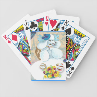 White Poodle Tea Party Treats and Cupcake Bicycle Playing Cards