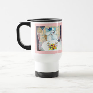 White Poodle Tea Party with Cupcakes Mug