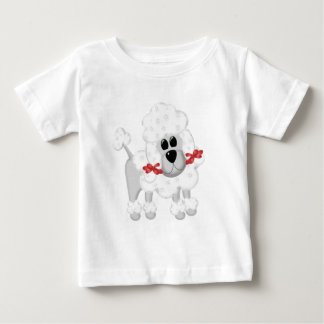 White Poodle With Red Baby T-Shirt