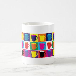"""White """"Pop Art"""" Themed Mug"""