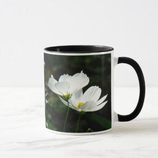 White Poppies Flowers Mug