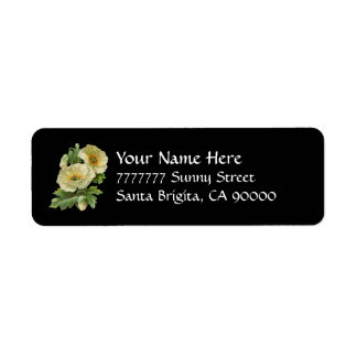 White Poppies Vintage Tole Address Labels